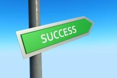 Erfolgs-Zeichen Lizenzfreie Stockfotos