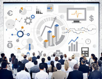 Erfolgs-Ziel-Analyse-Firmenkundengeschäft-Konzept lizenzfreie stockfotos