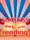 Erfolgsanfänge mit Lesung Stockfotos