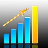 Erfolgsdiagramm Stockfoto