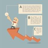 Erfolgsdiagramm infographic Lizenzfreie Stockfotos