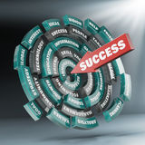Erfolgsdiskette und -pfeil Stockfoto