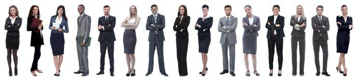 Erfolgskonzept - Collage mit vielen Geschäftsleuten stockbilder