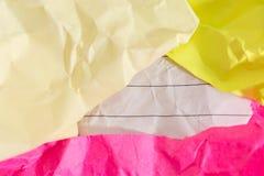 Erfolgskonzept und -idee zerknitterten Papierraum für Text Stockfoto