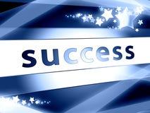 Erfolgskonzeptblau mit Sternen Lizenzfreies Stockbild