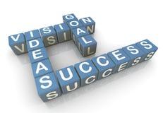 Erfolgskreuzworträtsel Stockfoto