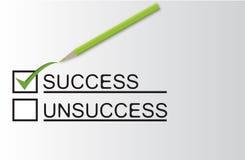 Erfolgsmißerfolgcheck Stockbild