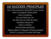Erfolgsprinzipien lizenzfreie abbildung