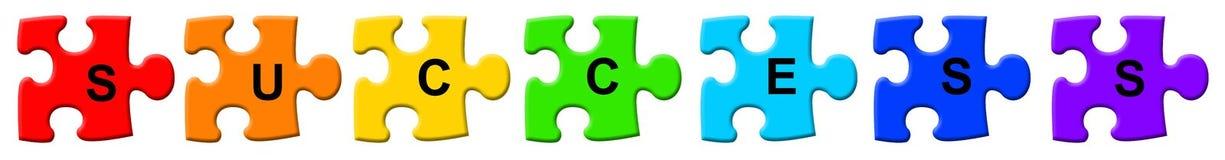 Erfolgspuzzlespiel Lizenzfreies Stockbild