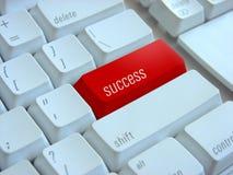 Erfolgstastatur Stockfoto