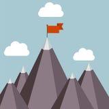 Erfolgsvektorillustration - Spitze des Berges lizenzfreie abbildung