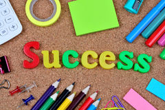 Erfolgswort auf Korken Lizenzfreies Stockfoto