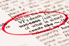 Erfolgswort markiert auf Rot Lizenzfreie Stockbilder