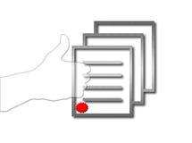 Erfolgtes Abkommen vektor abbildung