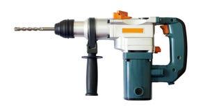 Erforatingmaskin för Ð på en vit bakgrund med den snabba banan Fotografering för Bildbyråer
