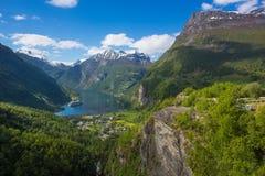 Erforschen Sie die Norwegen-Fjorde Stockfotografie