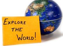 Erforschen Sie die Welt Stockfotos