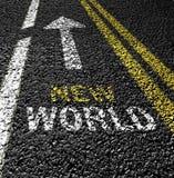 erforschen Sie neue Welt Stockfoto