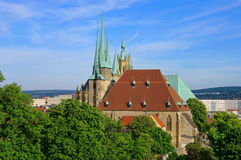 Erfurt cathedral Royalty Free Stock Photography