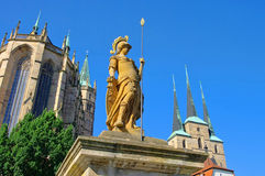 Erfurt cathedral Stock Images