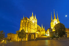 Erfurt Cathedral in the evening Stock Photo