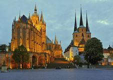 Erfurt cathedral germany Stock Images