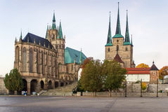 Erfurt Cathedral and Severikirche,Germany Royalty Free Stock Photography