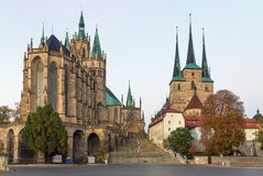 Erfurt Cathedral and Severikirche,Germany Stock Image