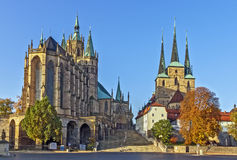 Erfurt Cathedral and Severikirche,Germany Stock Images