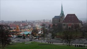 Erfurt christmas market stock video
