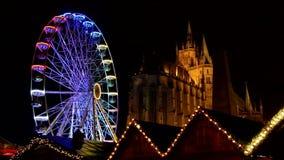 Erfurt christmas market stock video footage