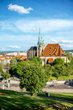 Erfurt city in Germany. Cityscape view on Erfurt city with St. Mary Domberg cathedral in Germany Royalty Free Stock Photo