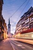Erfurt do centro, Alemanha Fotografia de Stock