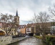 Erfurt evening view of the famous Kraemerbruecke Royalty Free Stock Image