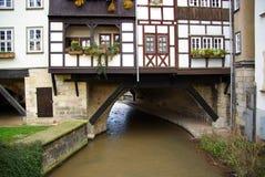 Erfurt Kraemerbrücke 01 Fotografia Stock