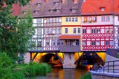 Erfurt Kraemerbruecke Royaltyfri Bild