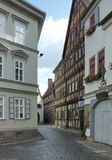 Erfurt. Street scenery of Erfurt, a city in Thuringia (Germany royalty free stock photography