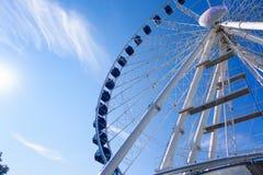 Erfurt, Thuringen, Germany-September 25, 2016: Ferris wheel over Royalty Free Stock Photo