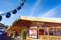 Erfurt, Thuringen, Germany-September 25, 2016: Ferris wheel over Stock Images
