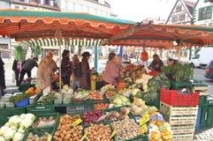 Erfurt warzywa Plenerowy Targowy kram Obraz Stock