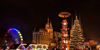 Erfurt-Weihnachtsmarkt Lizenzfreies Stockfoto