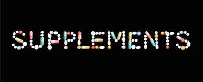 Ergänzungs-Pillen-Symbol lizenzfreie abbildung