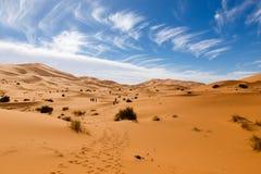 Erg Chebbi au Maroc Images stock