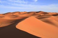 Erg Chebbi. Dunes of Erg Chebbi, Morocco Stock Image