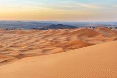 Erg Chebbi Sand dunes near Merzouga in the morning, Morocco Stock Photography