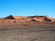 Erga Chebbi diuny w Maroko Zdjęcie Stock