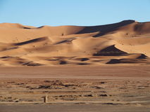 Erga Chebbi diuny w Maroko Zdjęcia Royalty Free