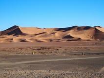 Erga Chebbi diuny w Maroko Fotografia Stock