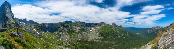 Ergaki panoramische Ansicht Lizenzfreie Stockfotos