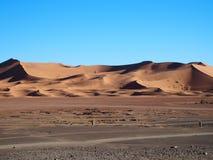 ErgChebbi dyn i Marocko Royaltyfri Bild